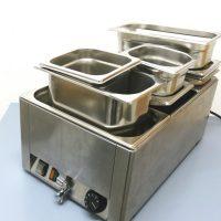 Bain-Marie ; elektrisches Wasserbad zum Warmhalten von Speisen ; mit GN Behälter ; im Verleih